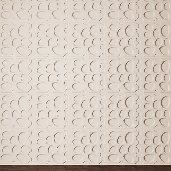 3D Panels Pebbles