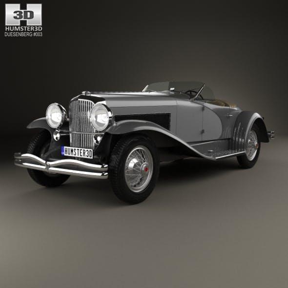 Duesenberg SSJ Roadster 1935 - 3DOcean Item for Sale