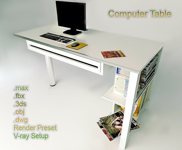 Computer Table - 3DOcean Item for Sale