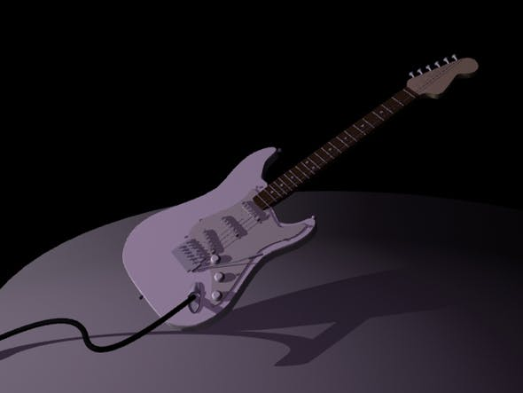 Guitar Based on Fender - 3DOcean Item for Sale