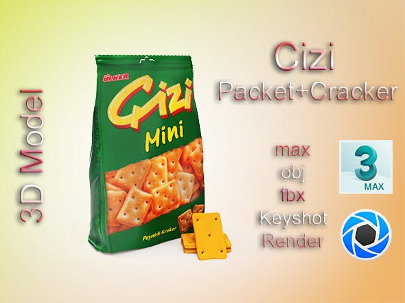 Cizi Cracker Packet - 3DOcean Item for Sale