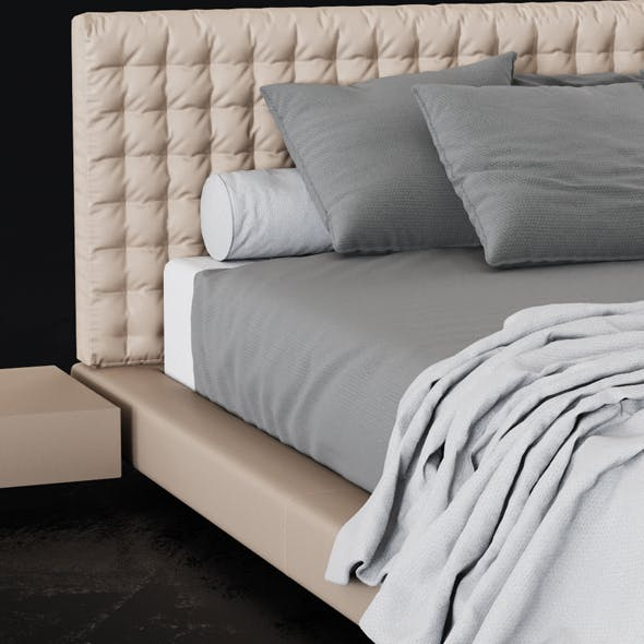 Bed Valencia - 3DOcean Item for Sale