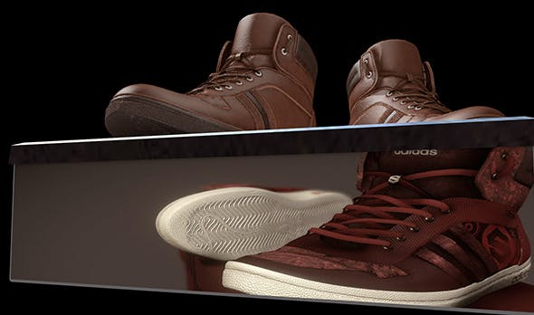 BROWN SNEAKERS - 3DOcean Item for Sale