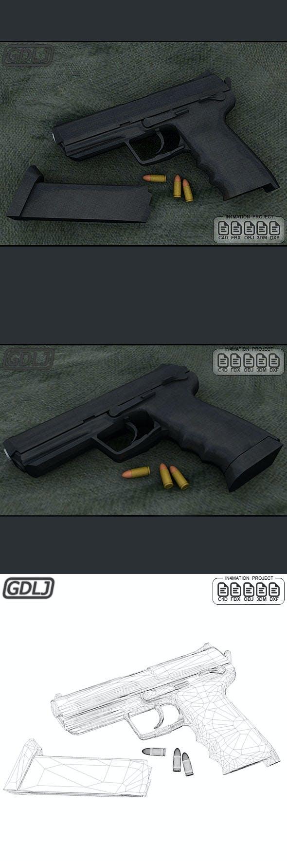 ASG - MK23 Socom Black - 3DOcean Item for Sale