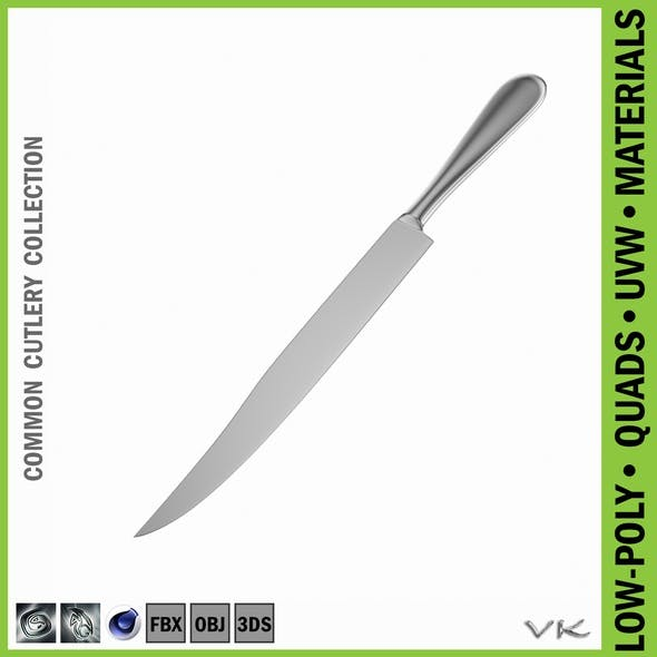 Carving Knife Common Cutlery - 3DOcean Item for Sale