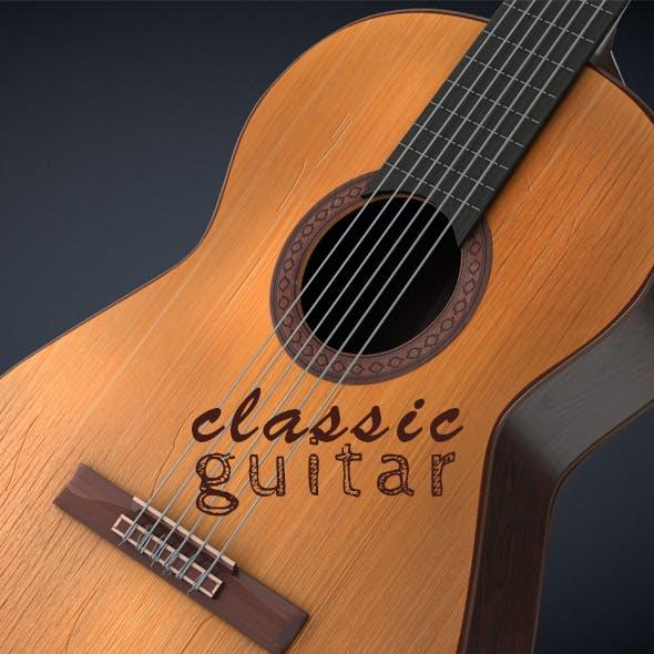 Classical Guitar High Detailed 3D Model