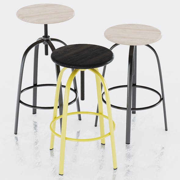 Miniforms Ferrovitos Stool - 3DOcean Item for Sale