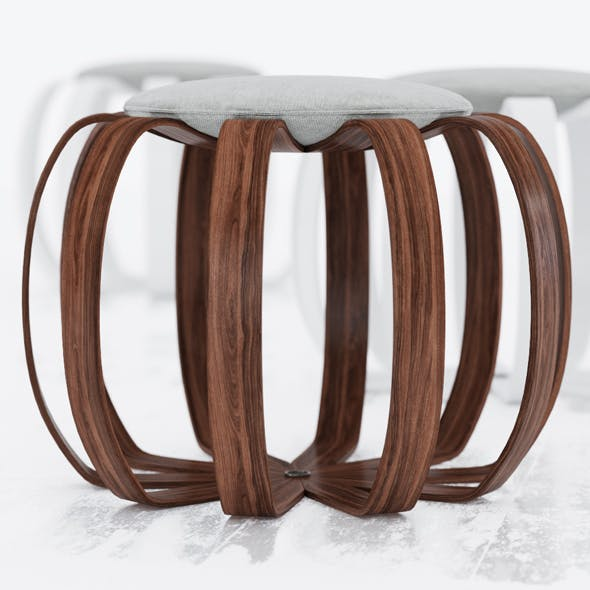 Porada Kiko Stool - 3DOcean Item for Sale