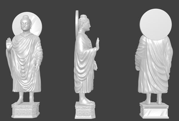 Gautama Buddha 3d Model By Md Shanto - 3DOcean Item for Sale