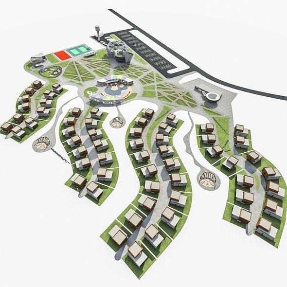 Health Spa Resort - 3DOcean Item for Sale