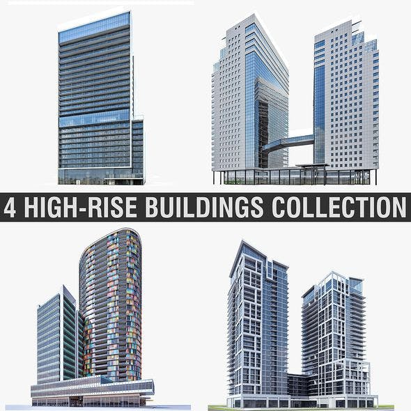 High-rise Buildings Collection 01 - 3DOcean Item for Sale