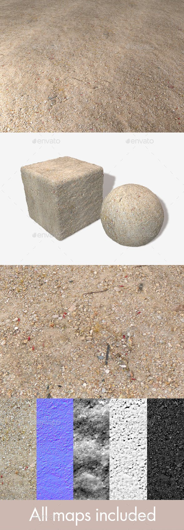 Desert Ground with Petals Seamless Texture - 3DOcean Item for Sale