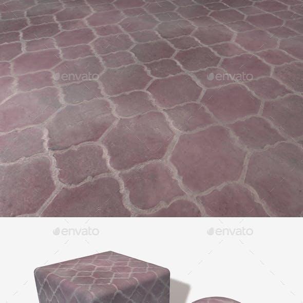 Purple Floor Tiles Seamless Texture