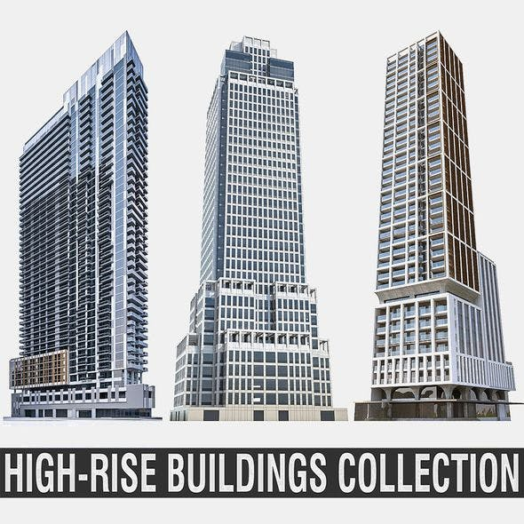 High-rise Buildings Collection 02 - 3DOcean Item for Sale