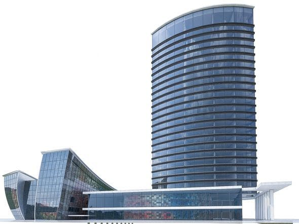 High-rise Office Building 03 - 3DOcean Item for Sale
