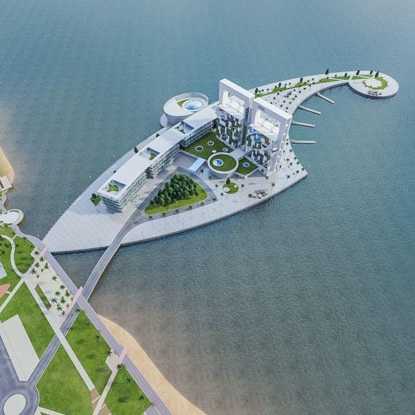 Hotel Beach Resort - 3DOcean Item for Sale
