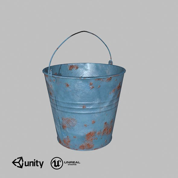 Bucket low-poly - 3DOcean Item for Sale