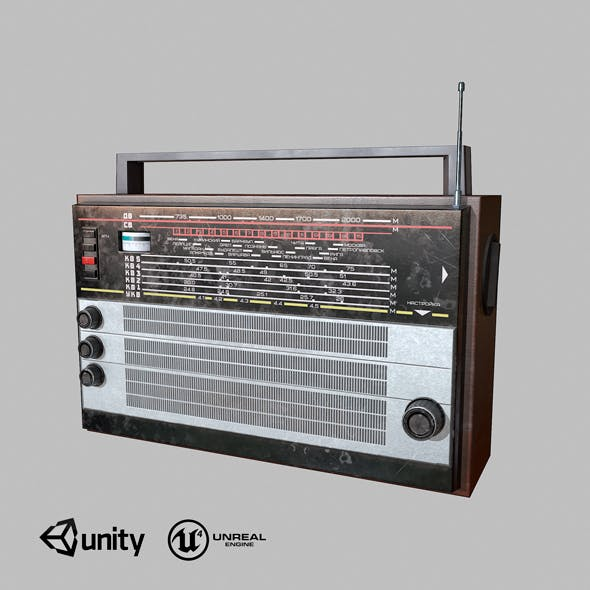 Old USSR Radio low-poly - 3DOcean Item for Sale