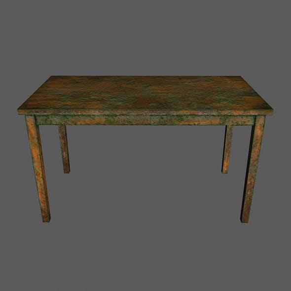 Wooden_Table - 3DOcean Item for Sale