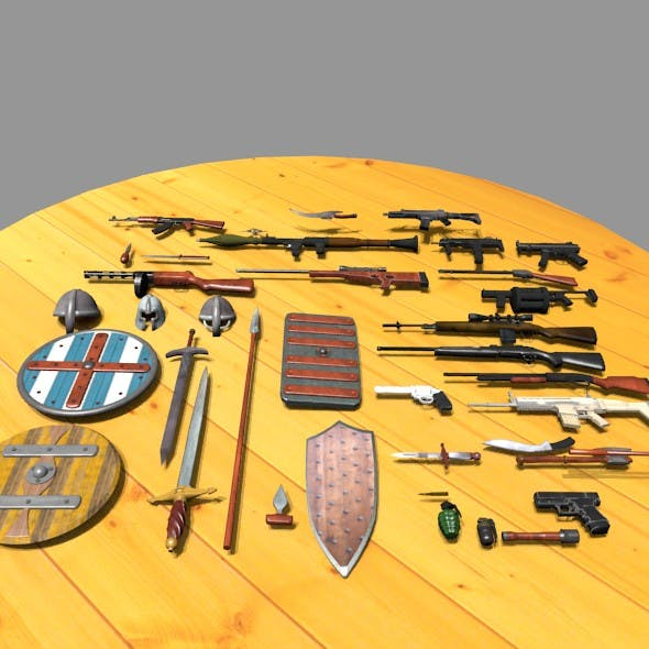 Weapon pack - 3DOcean Item for Sale