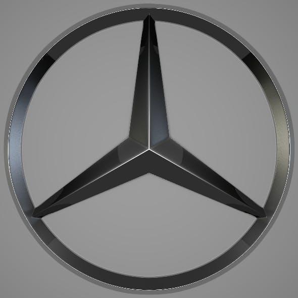 Mercedes Logo - 3DOcean Item for Sale
