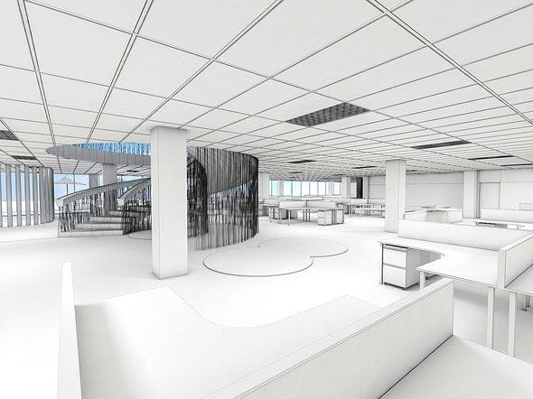 Office Interior 01 - 3DOcean Item for Sale