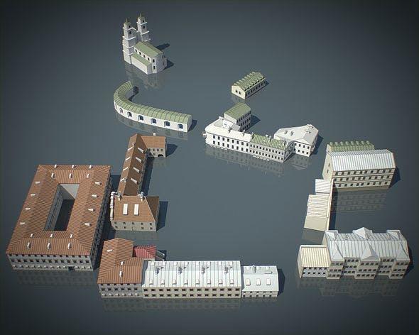Old Town Buildings - 3DOcean Item for Sale