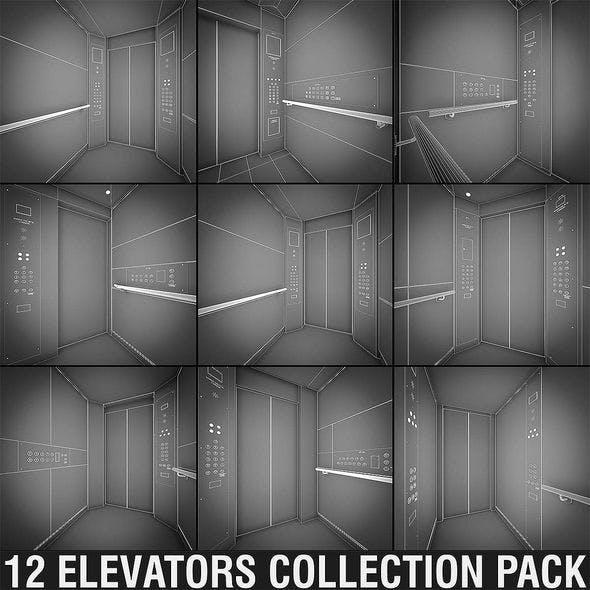 OTIS Elevators Collection - 12 Pack - 3DOcean Item for Sale