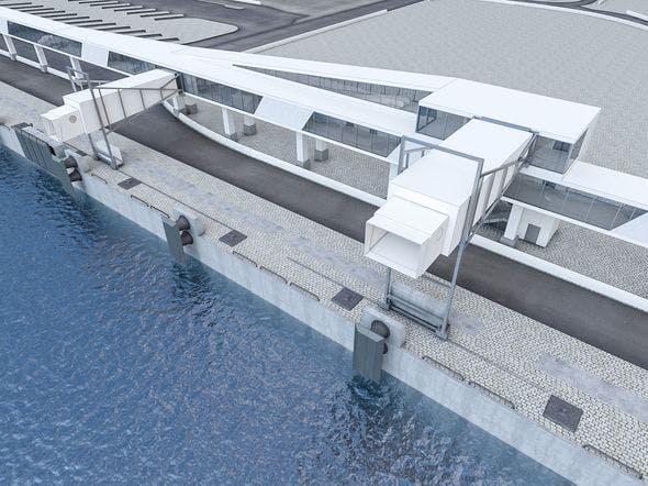Port Gangway Set - 3DOcean Item for Sale