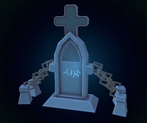 Low poly Tombstone - 3DOcean Item for Sale