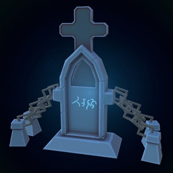 Low poly Tombstone