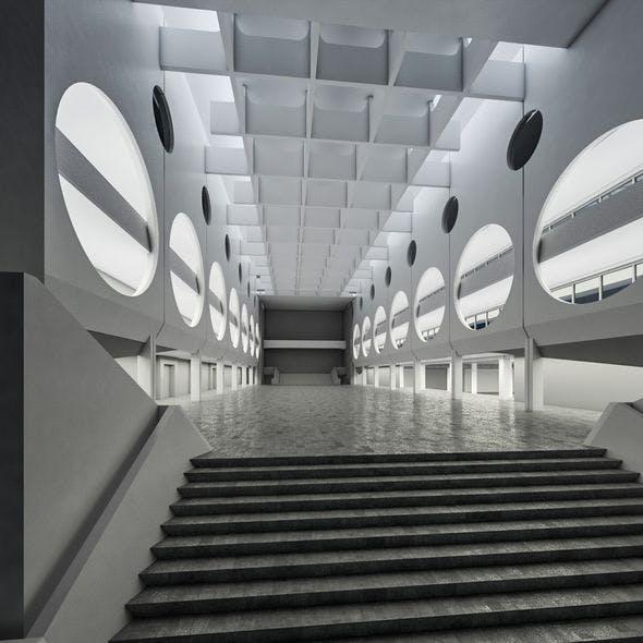 Public Hall Interior 03 - 3DOcean Item for Sale