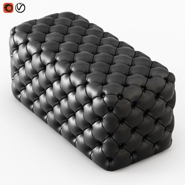 Pouf Capitone - 3DOcean Item for Sale