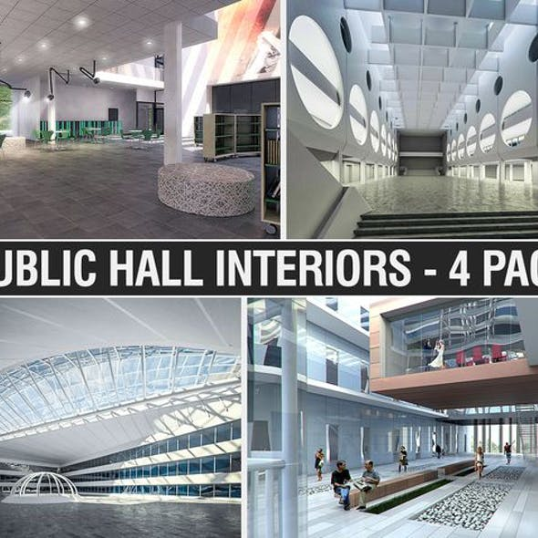 Public Hall Interiors Collection - 4 Pack
