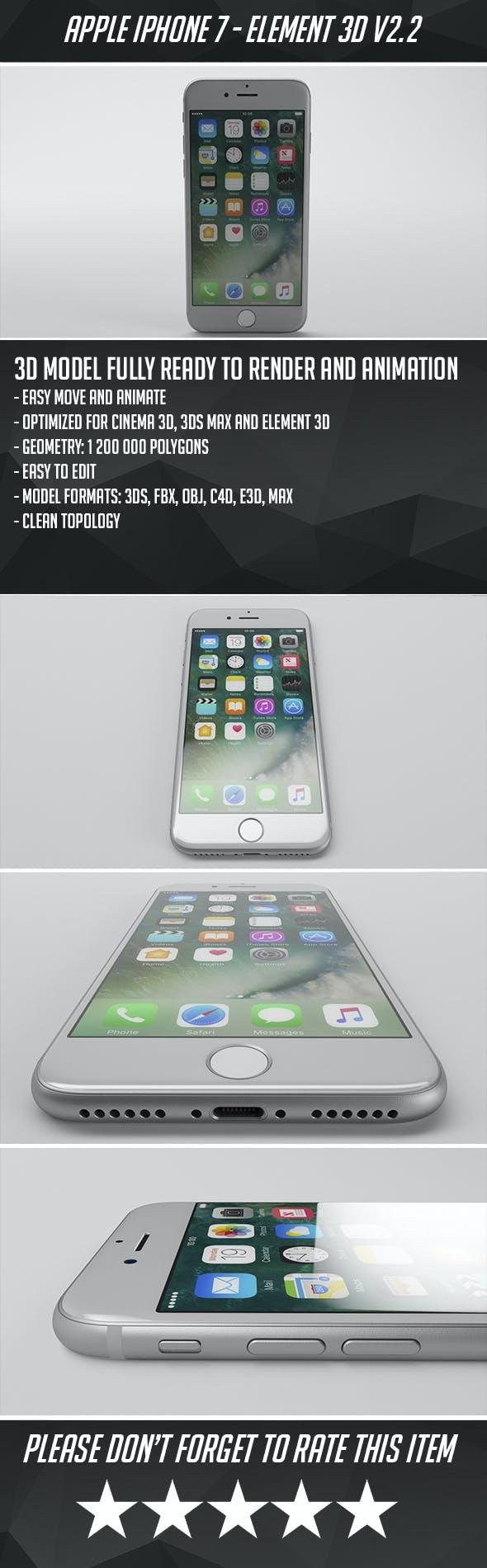 iPhone 7 - Element 3D - 3DOcean Item for Sale