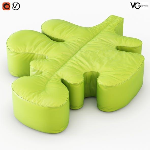 Pouf Quercia - 3DOcean Item for Sale