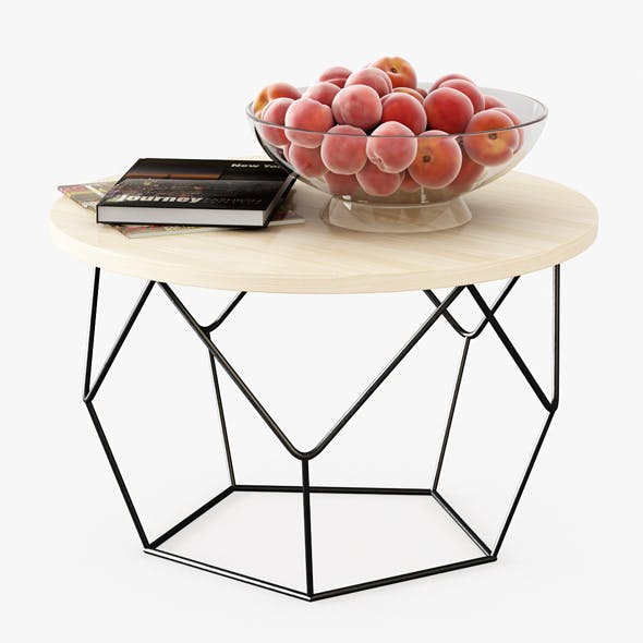 Table with Peaches - 3DOcean Item for Sale