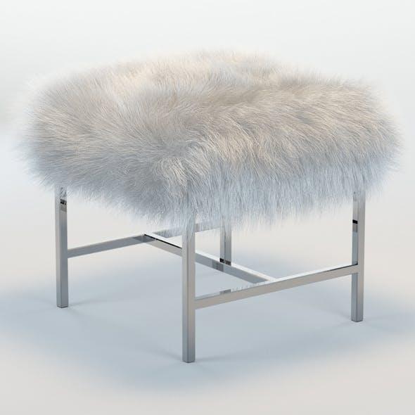 Tavi Mongolian Faux Fur Stool