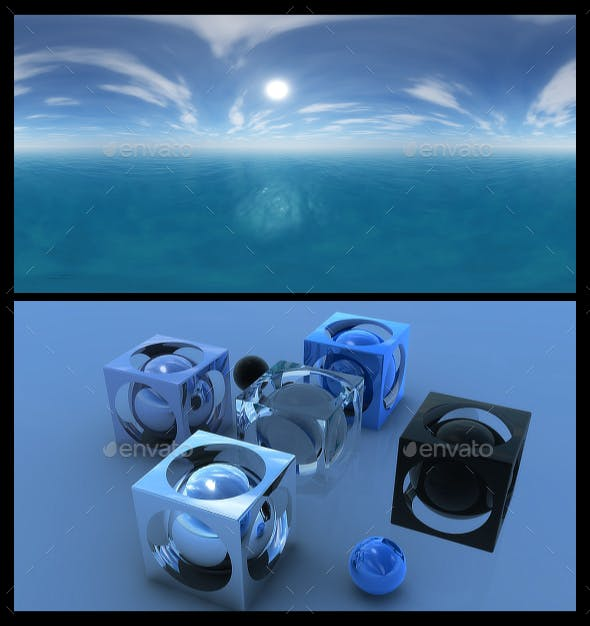 Ocean Blue Clouds 15 - HDRI - 3DOcean Item for Sale