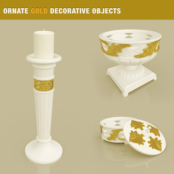 Ornate Decorative Objects - 3DOcean Item for Sale