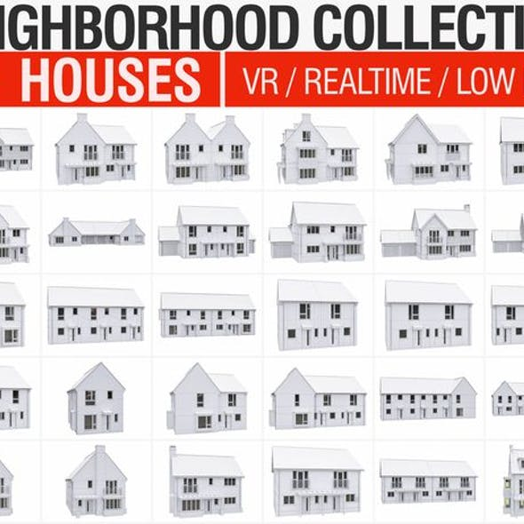 Neighborhood Houses Collection - 36 Pack