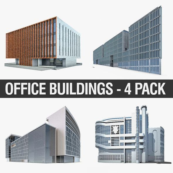 Office Buildings Collection 01 - 3DOcean Item for Sale