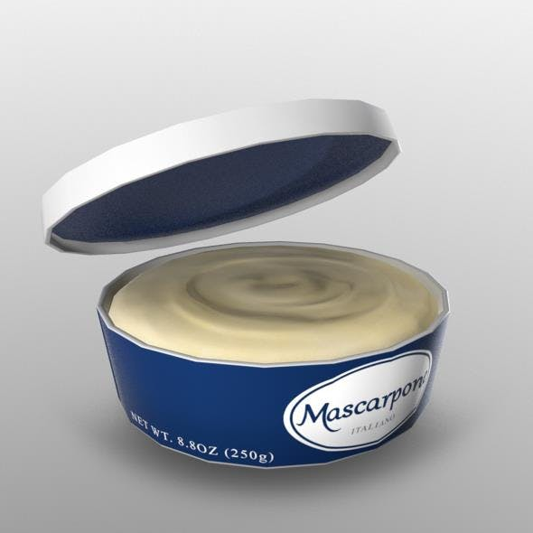 Mascarapone Cheese - 3DOcean Item for Sale