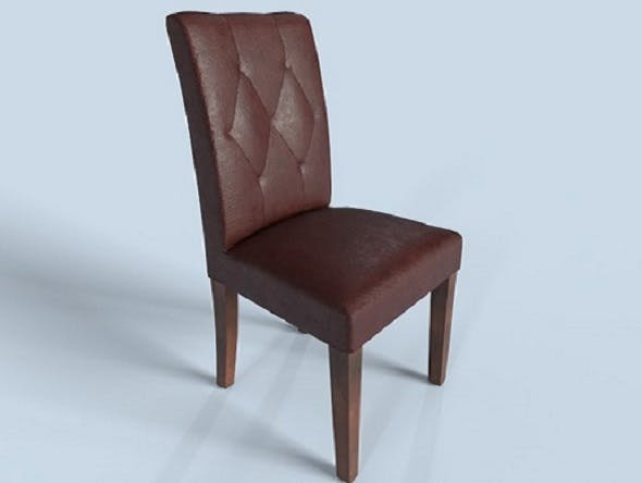 Leather Cushioned Chair PBR - 3DOcean Item for Sale