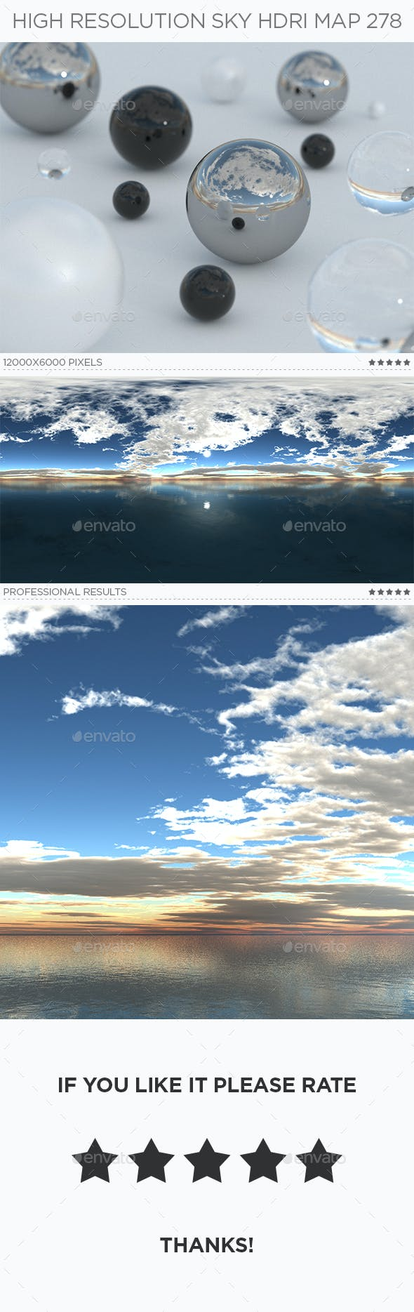 High Resolution Sky HDRi Map 278 - 3DOcean Item for Sale