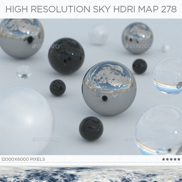 High Resolution Sky HDRi Map 278