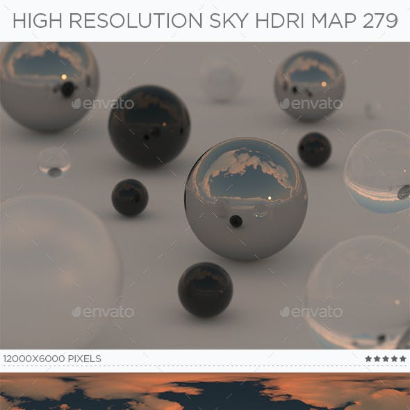 High Resolution Sky HDRi Map 279