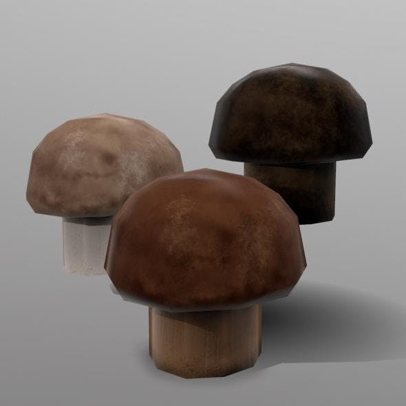 Cremini Mushroom - 3DOcean Item for Sale