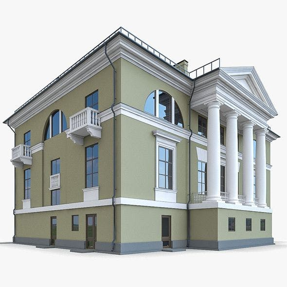 Residential Building 01 - 3DOcean Item for Sale