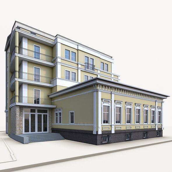 Residential Building 02 - 3DOcean Item for Sale